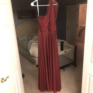 Azazie Charlize Bridesmaid Dress in Cabernet